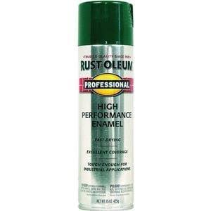 Rust-Oleum 7533838 Professional High Performance Enamel Spray - Safety Green, 15oz