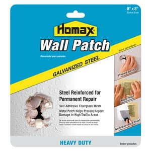 "Homax Heavy Duty Self Adhesive Wall Repair Patch - 8"" x 8"""