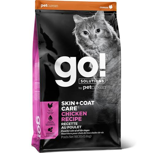 Go! Solutions Skin + Coat Care Chicken Recipe Dry Cat Food, 8 lb