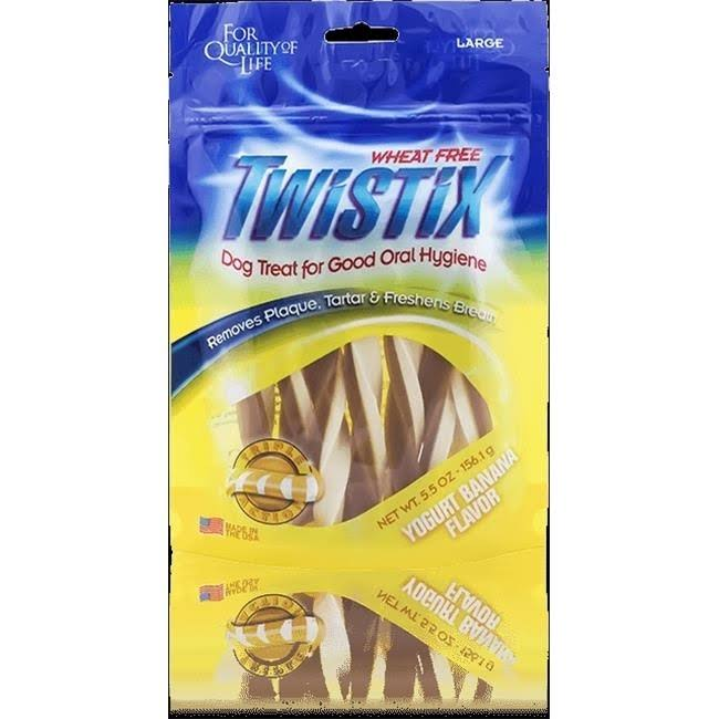 Twistix Dental Dog Treats - Yogurt & Banana, Small, 5.5 oz