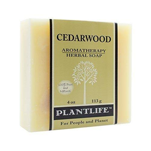 Plantlife 100% Pure & Natural Aromatherapy Herbal Soap - Cedarwood, 113g