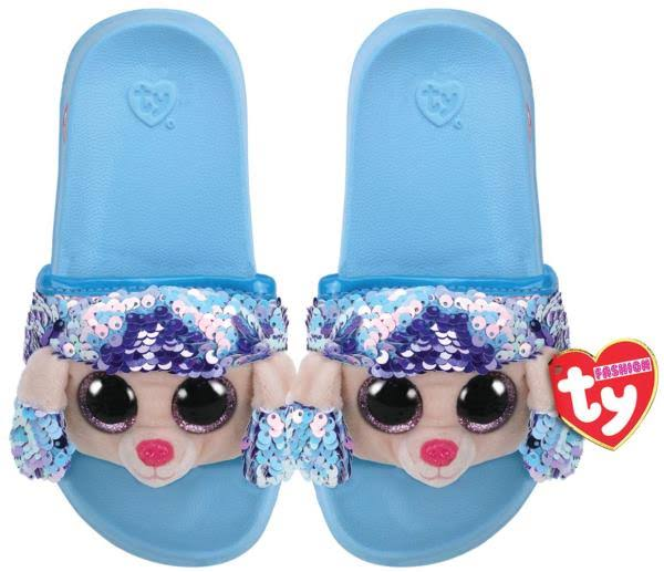 Ty Plush Rainbow Poodle Sequin Slides