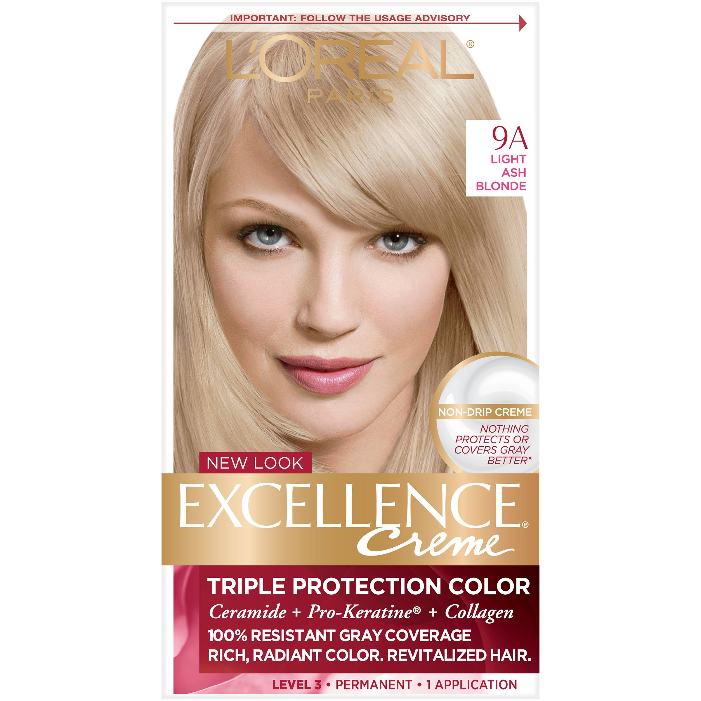 L'Oréal Paris Excellence Creme Permanent Hair Color - 9A Light Ash Blonde