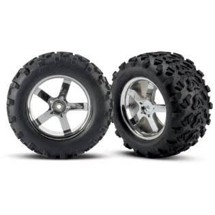 Traxxas Tires Hurricane Wheels - 2 T Maxx 3 8 Revo, Chrome