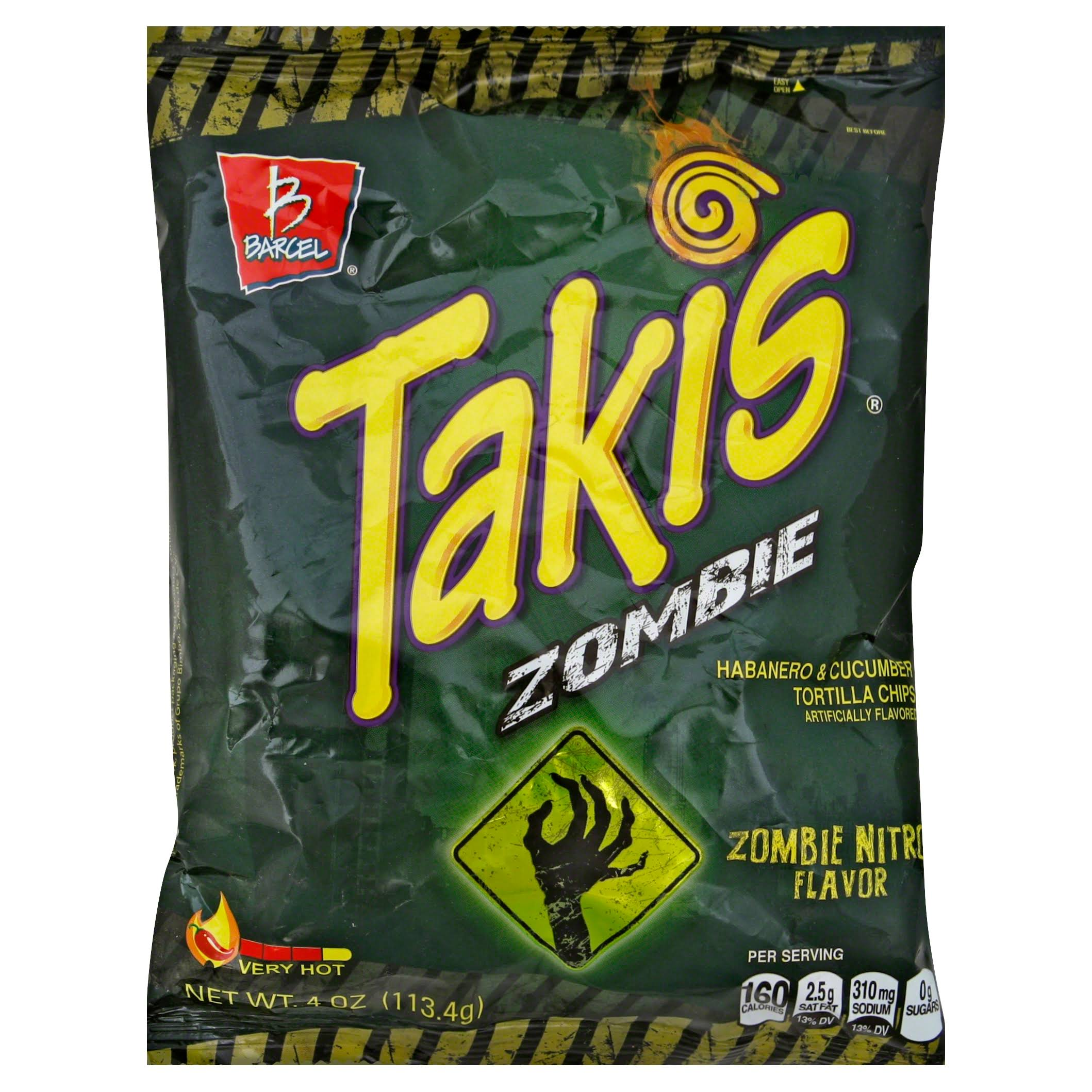Barcel Takis Zombie Habanero and Cucumber Tortilla Chips - 4oz