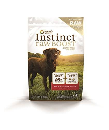 Nature's Variety Instinct Raw Boost Grain-Free Beef & Lamb Meal Formula Dry Dog Food