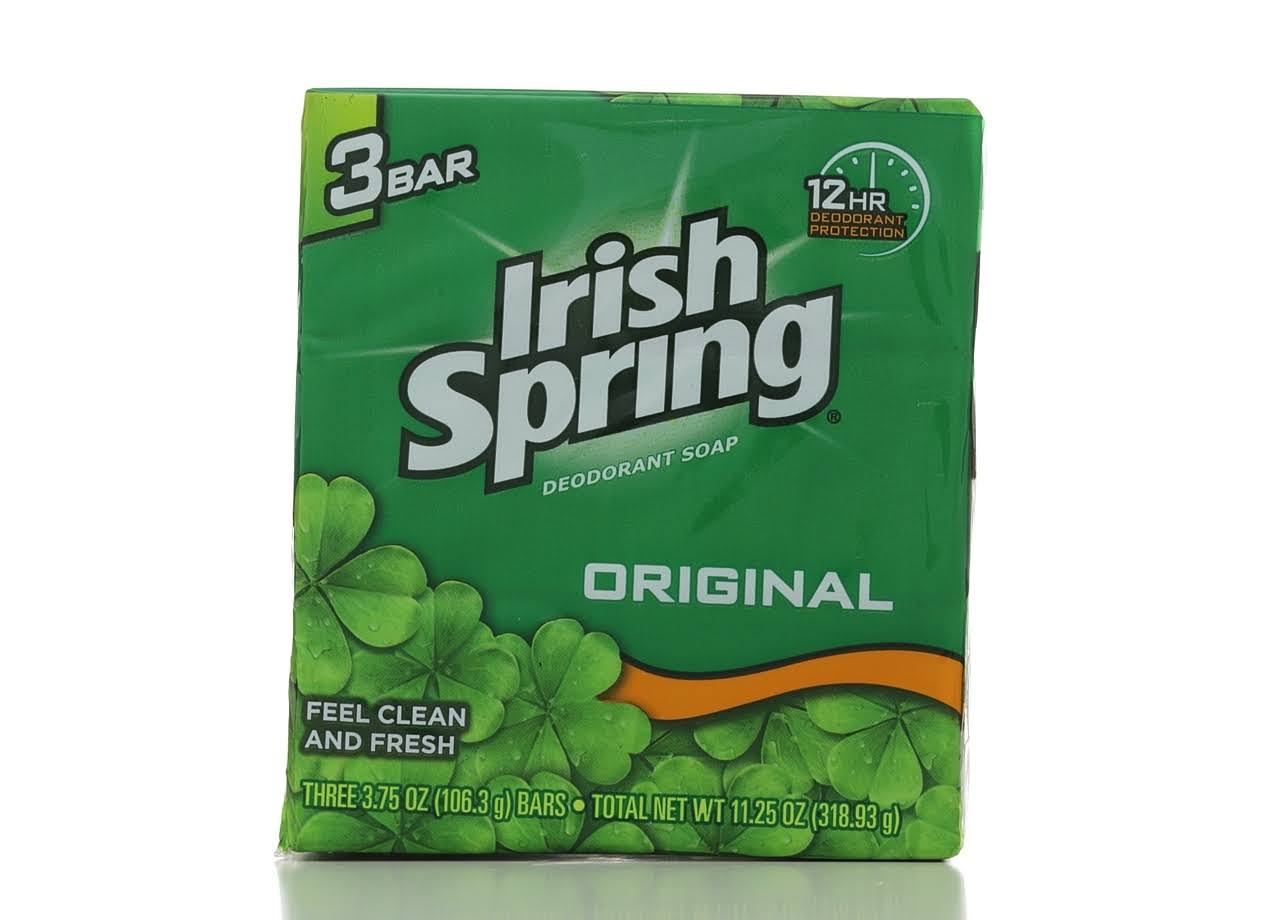 Irish Spring Original Deodorant Soap - 3.75oz, 3ct