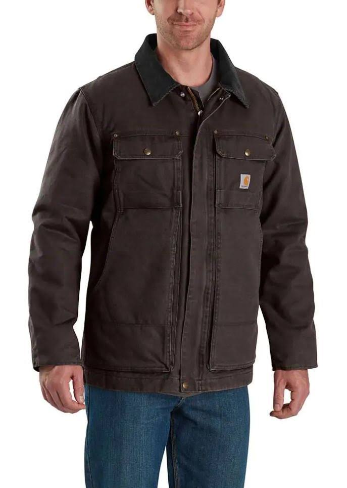 Carhartt Men's Regular Cotton Full Swing Traditional Coat - X Large, Dark Brown