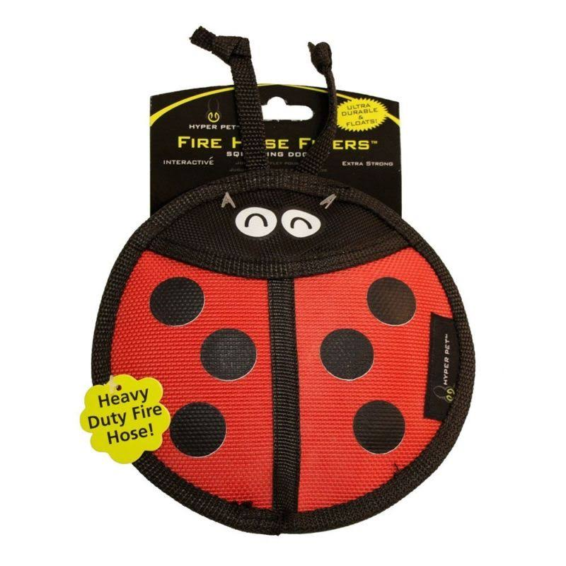 Hyper Pet Firehose Flyers Ladybug Dog Toy - Red and Black