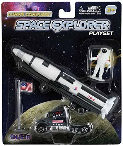 WowToyz Saturn V Rocket (4 Piece Playset)