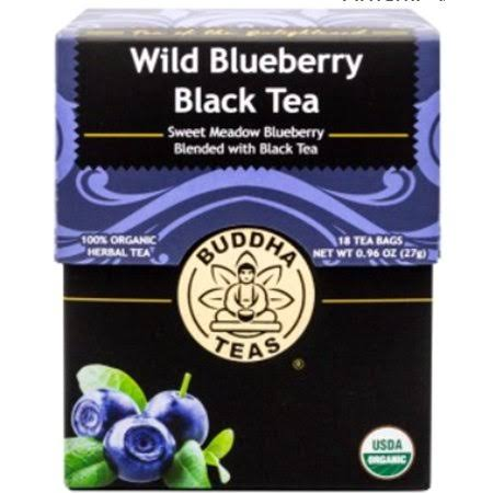 Buddha Tea Wild Blueberry Black Tea - 18 Bags