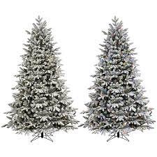 Lifelike Artificial Christmas Trees Canada by Ge 7 5 Ft Pre Lit Alaskan Pine Flocked Artificial Christmas Tree