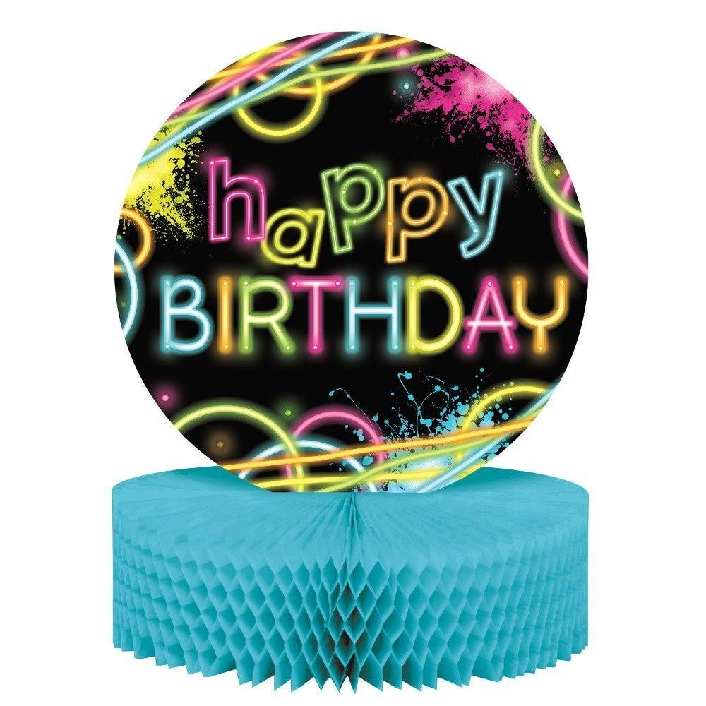 Creative Converting Birthday Centerpiece - Glow Party, 12""