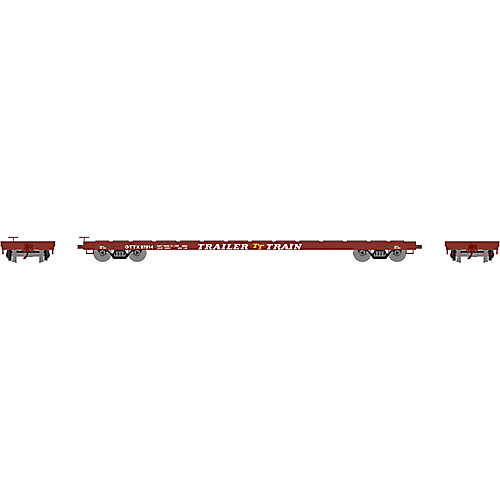 Athearn - HO RTR 60' Flat, Trailer Train/Brown #97014 - 92691