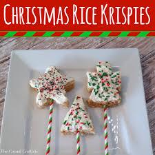 Rice Krispie Christmas Tree Cake by Christmas Rice Krispies Dipped In White Chocolate Christmas Rice