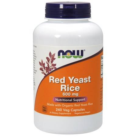 Now Red Yeast Rice 600 mg,240 Capsules