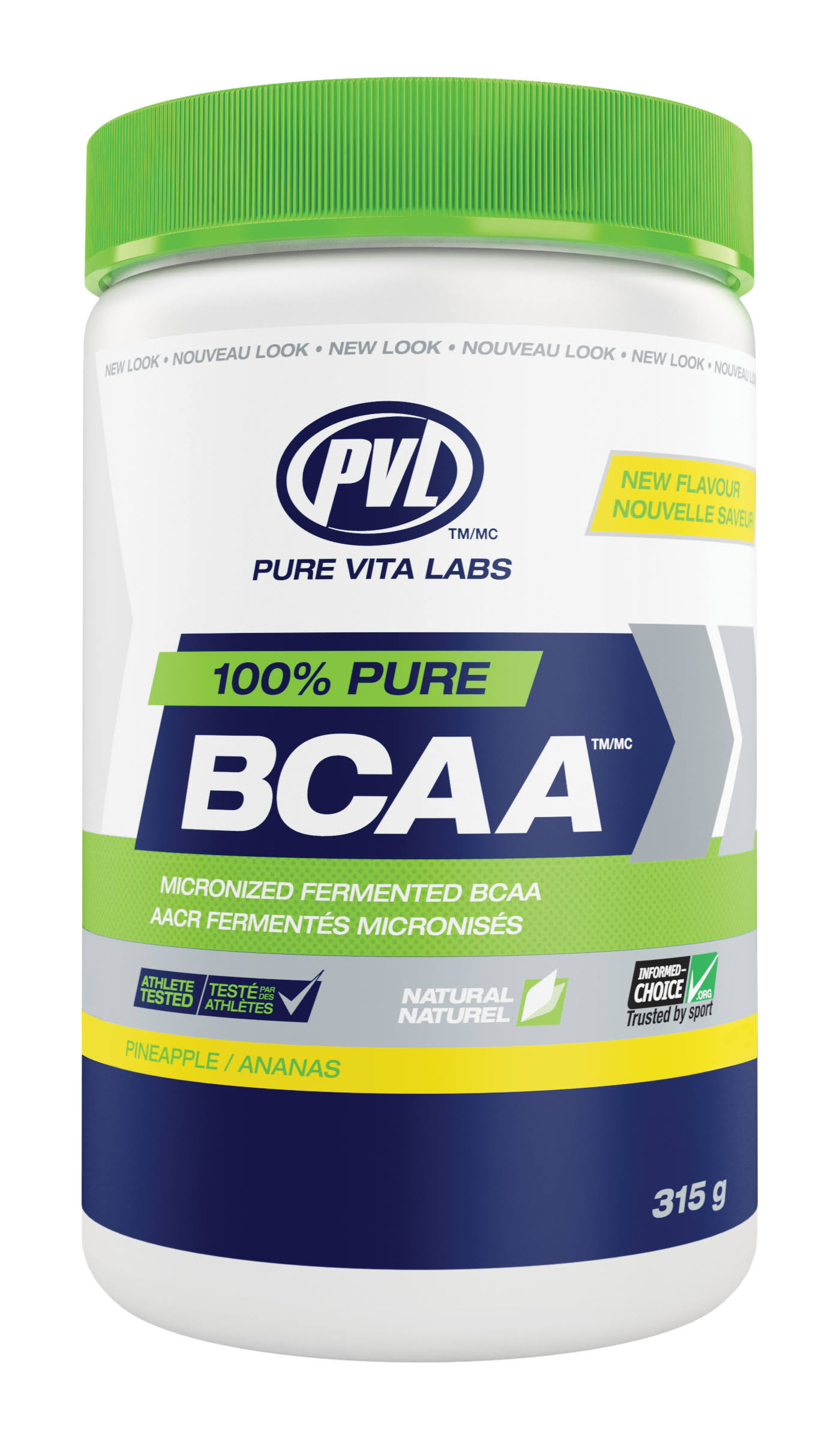 PVL 100% Pure BCAA 315g Pineapple