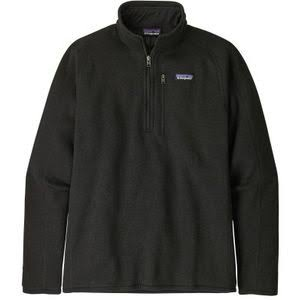 Patagonia Better Sweater 1/4 Zip Men's, Black / XXL