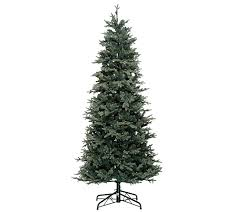Bethlehem Lights Christmas Trees Qvc by Bethlehem Lights 7 5 U0027 Slim Blue Spruce Christmas Tree Page 1