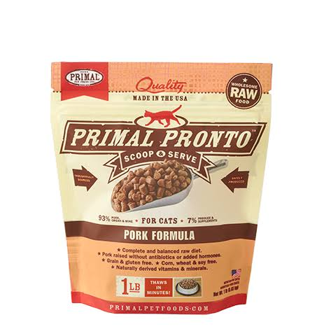 Primal Pronto Cat Food - Pork, 1lb