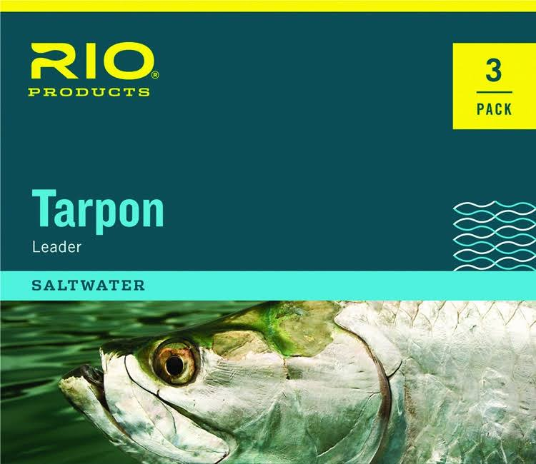 Rio Tarpon Fluorocarbon Shock Tippet Leader Fishing Line - Clear, 6'40lbs, 3pk