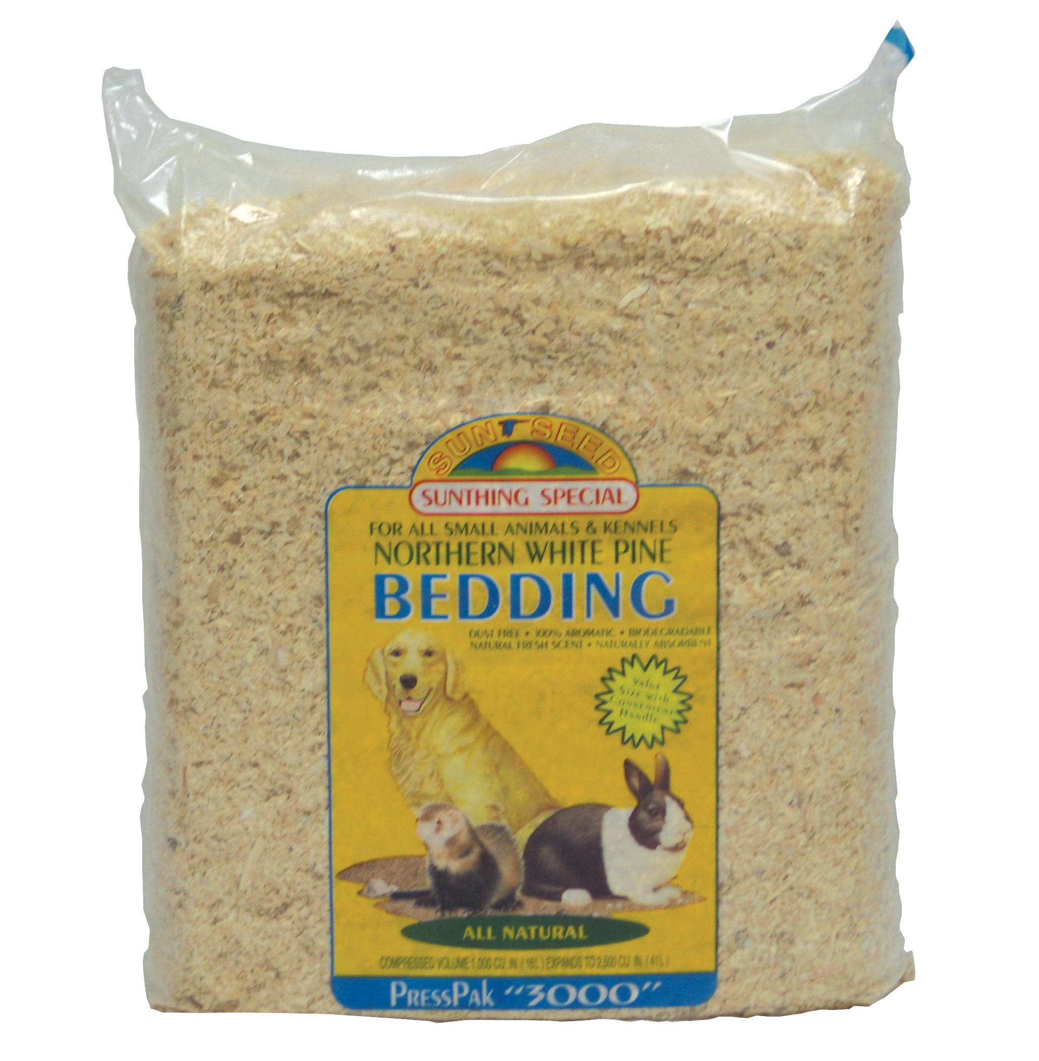Sunseed Pine Pet Bedding - Presspack, 2500 Cubic Inch