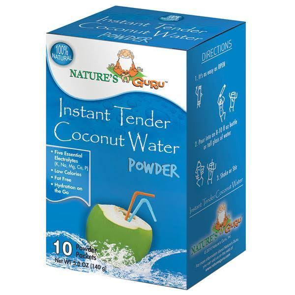 Nature's Guru Natural Instant Tender Coconut Water - 5oz