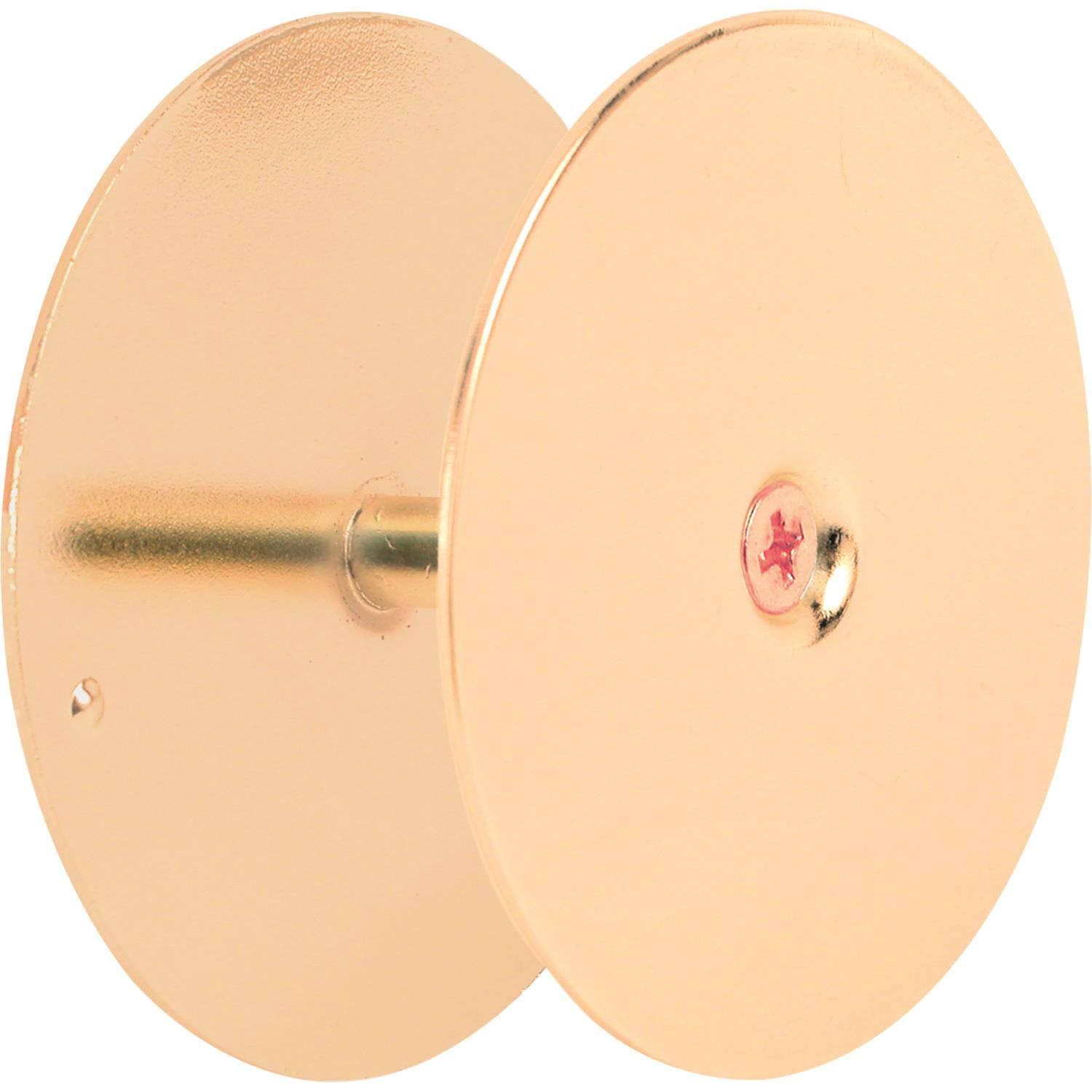 Prime Line Door Hole Cover Plate - Brass, 2-5/8in diameter