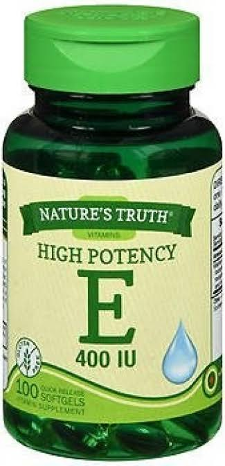 Nature's Truth Vitamin E 400 IU with Natural D-Alpha Quick Release Softgels