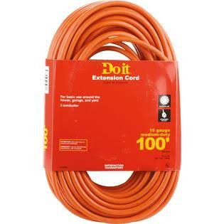 Do it Woods Industries Medium Duty All Weather Extension Cord - Orange, 100'