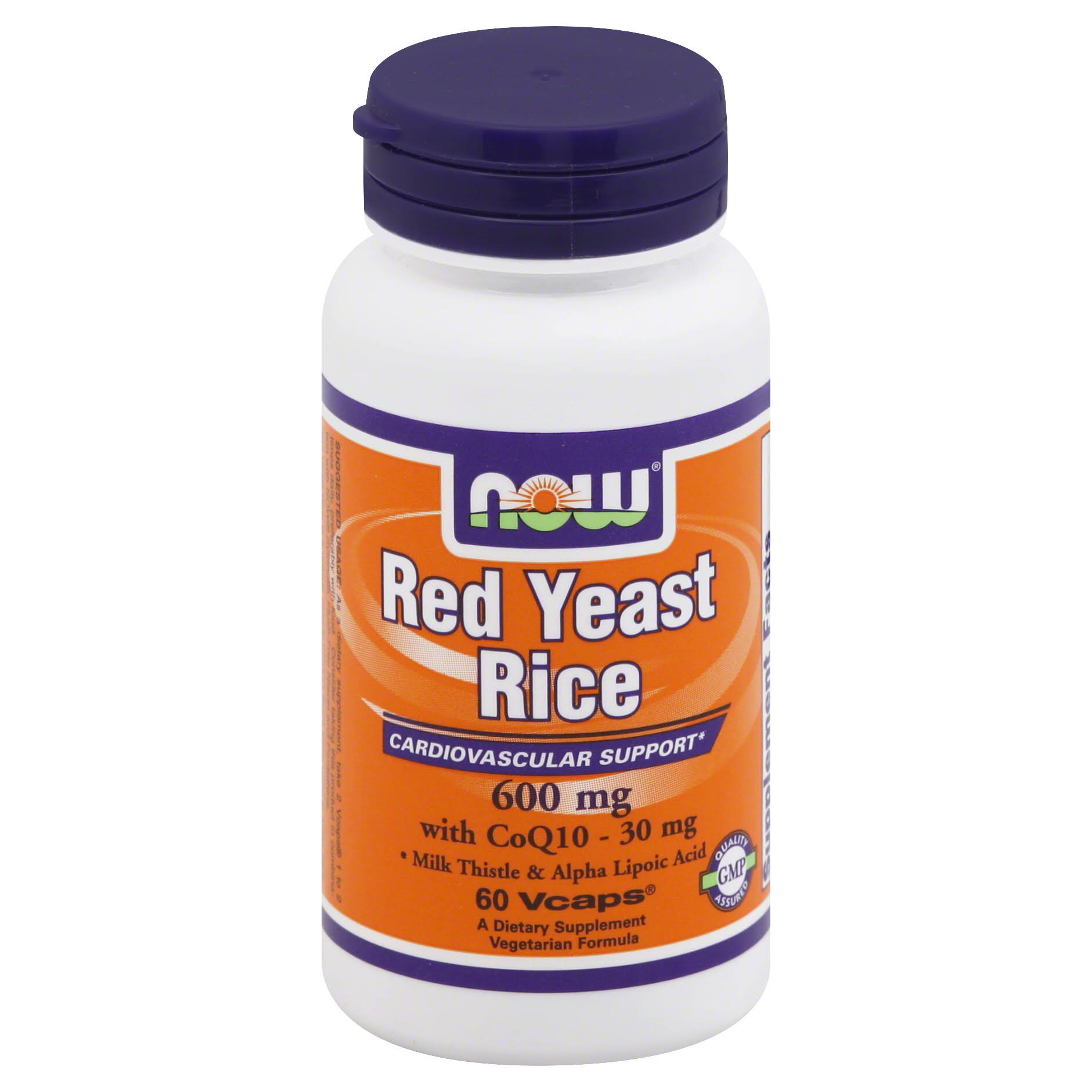 Now Foods Red Yeast Rice - 60 Vcaps, 600mg