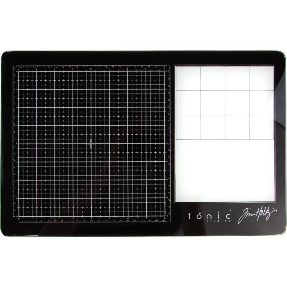 Tim Holtz Travel Glass Media Mat 10.25inX15.5in