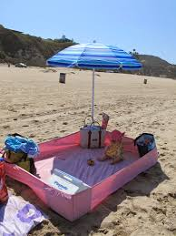 Fitted Outdoor Tablecloth With Umbrella Hole by Use A Fitted Sheet To Keep The Sand Out At The Beach Great Idea