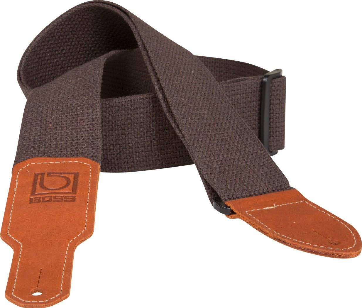 "Boss BSC-20-BRN 2"" Brown Cotton Guitar Strap"