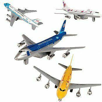 Toysmith Pull Back Die Case Jet Liner, Assorted Designs