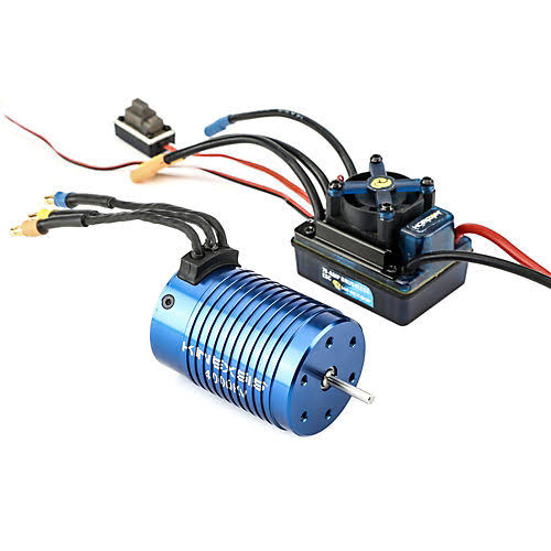 Kinexsis 1/10 4 Pole 4000kv Brushless WP ESC Motor Combo Slash Sc10 Stampede