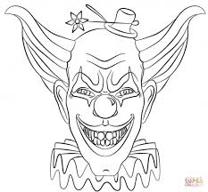 Evil Clown Pumpkin Stencils by Scary Clown Coloring Pages U2013 Fun For Halloween