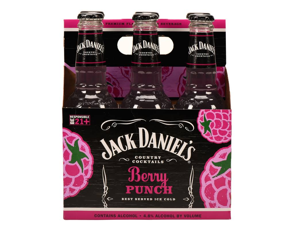 Jack Daniel's Cocktail - Berry Punch, 6pk, 10fl.oz