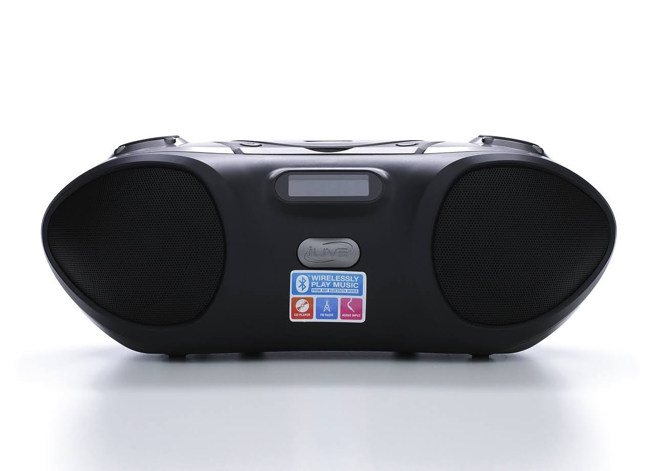 iLive Wireless Bluetooth CD Radion Portable Boombox
