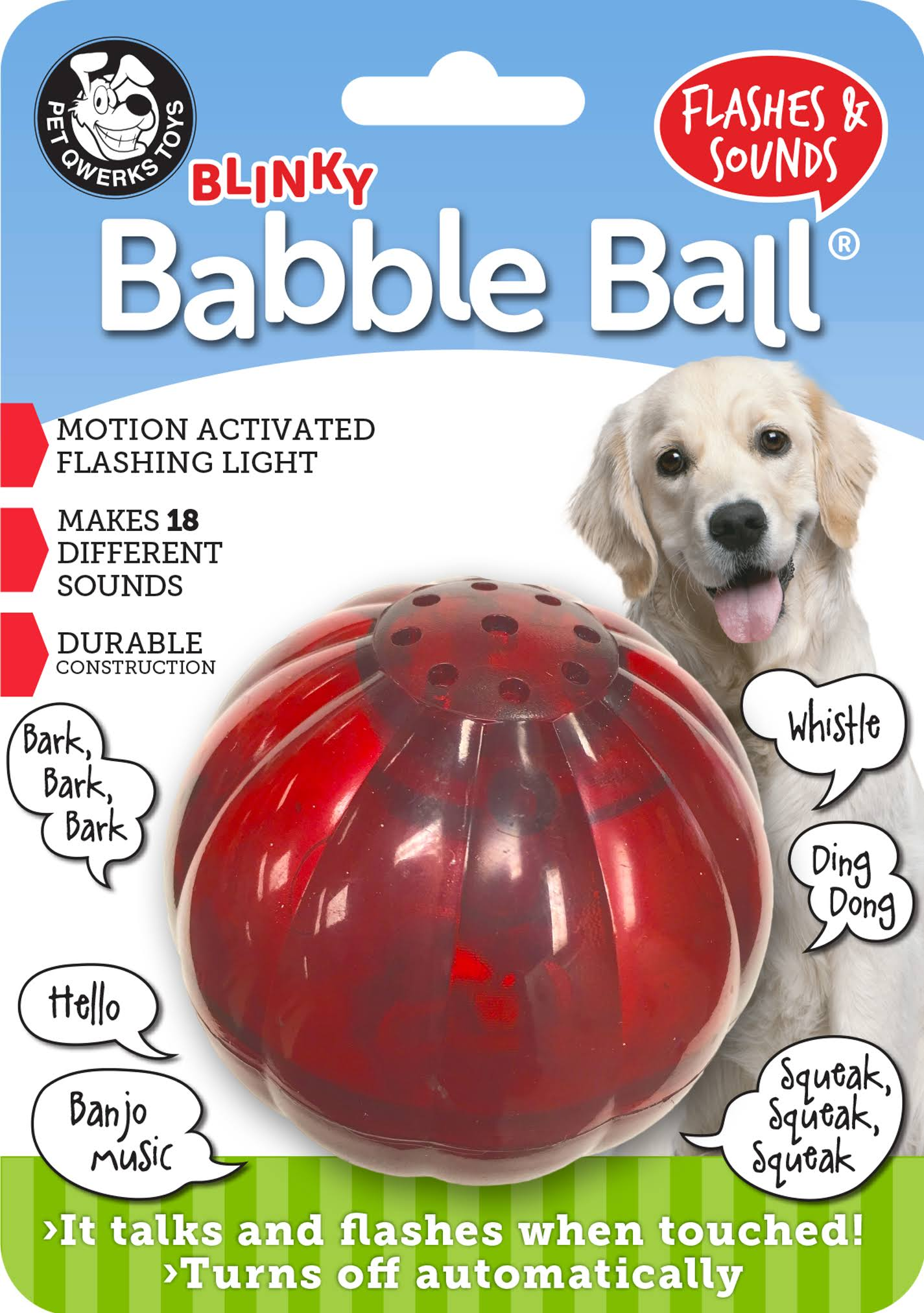 Blinky Babble Ball Interactive Dog Toy