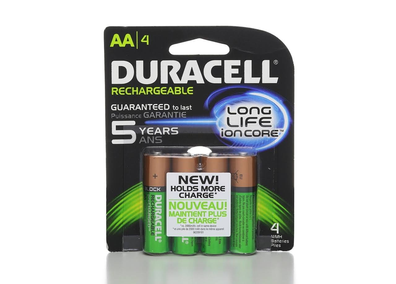 Duracell Rechargeable NiMH Batteries - AA, x4