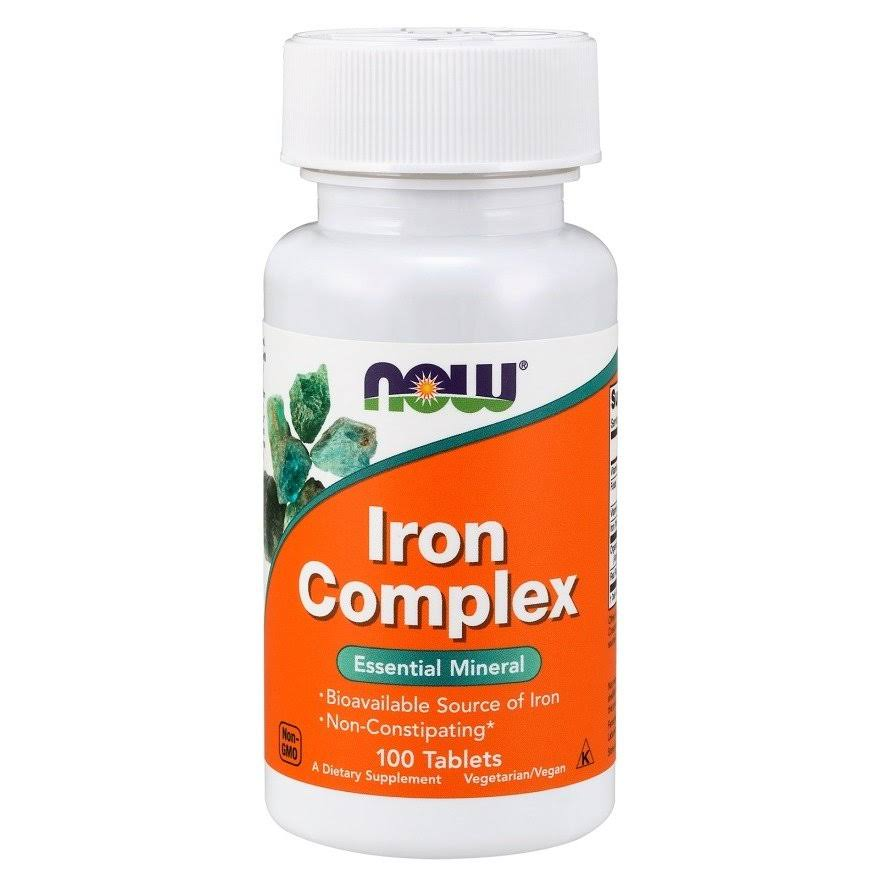 Now Iron Complex Dietary Supplement - 100 Tablets