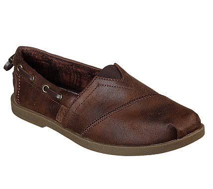 Skechers Women's Bobs Chill Luxe Buttoned Up Alpargata, Brown