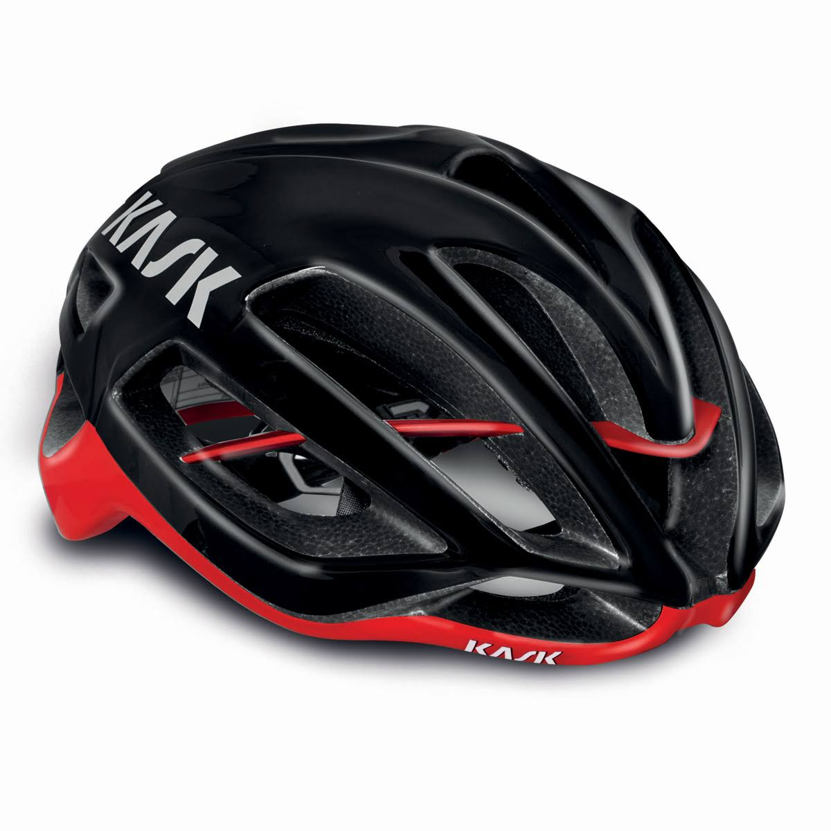 Kask Protone Cycling Helmet - Black and Red, Medium