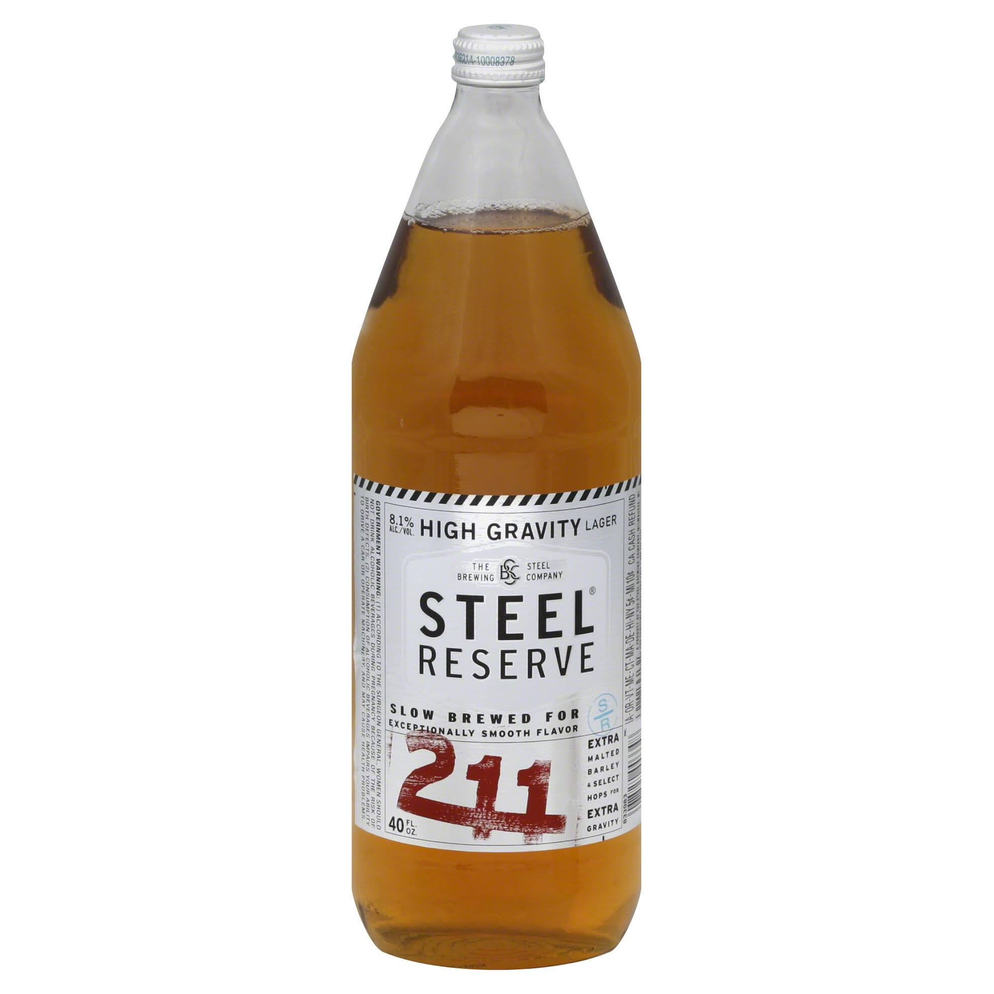 Steel Reserve 211 High Gravity Lager - 40oz