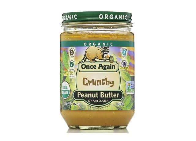 Once Again Organic Peanut Butter - Crunchy, No Salt, 16oz