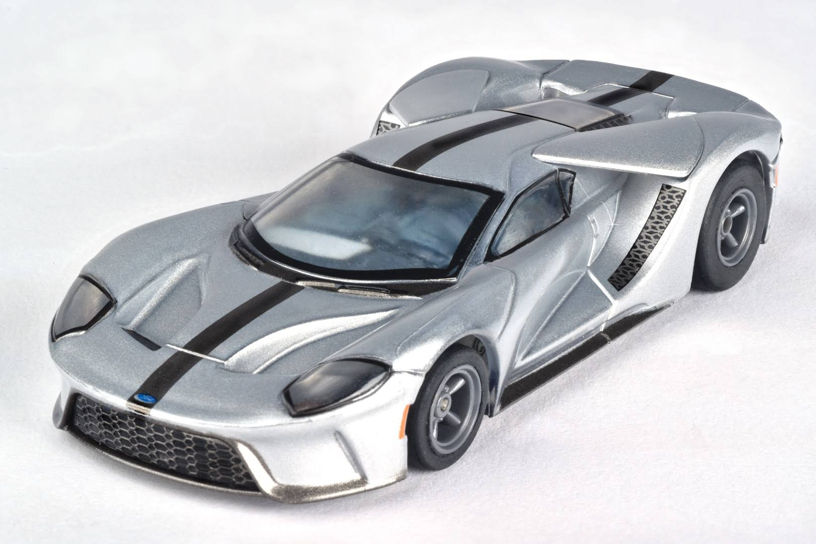 AFX HO Slot Car - Ford GT Silver/Black