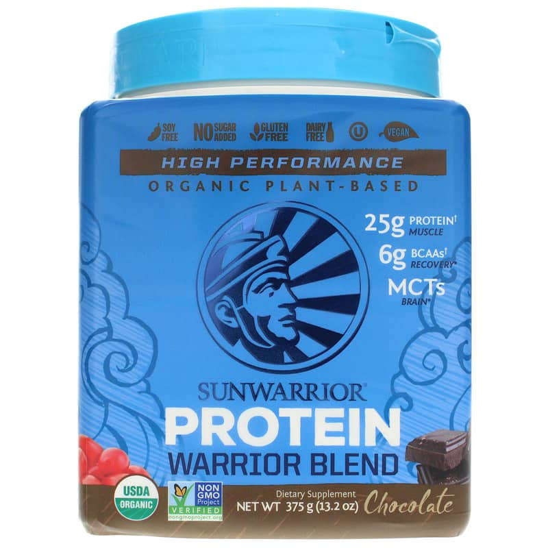 Sunwarrior Warrior Blend Raw Vegan Protein Supplement - Chocolate, 375g
