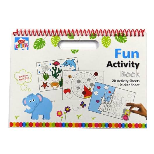 My Fun Activity Carry Book, Activity and Sticker Sheets