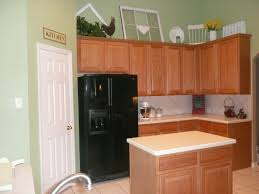 Moen Sage Kitchen Faucet by Sage Green Wall Paint Brown Wooden Kitchen Cabinet And Beige Tile